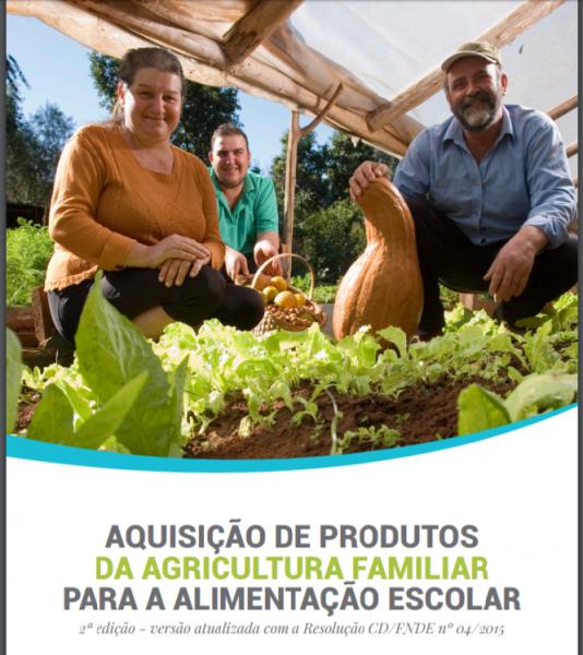 aquisição de produtos da agricultura familiar para a alimentação escolar.